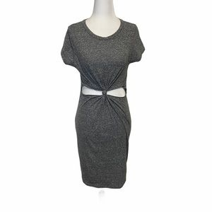 Cleo Apparel Cut Out Gray T-shirt Dress size XS/S